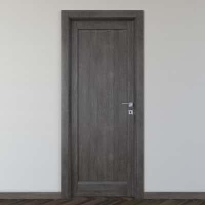Porta da interno battente Zaniah tabacco 80 x H 210 cm sx