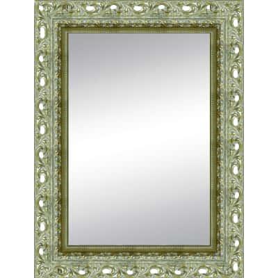 Specchio da parete rettangolare traforata argento 80 x 100 - Specchio rettangolare da parete ...