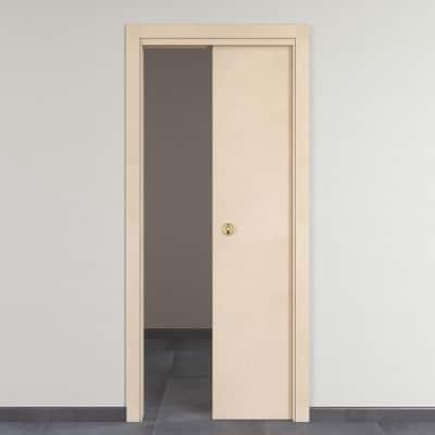 Porta da interno scorrevole Saint Germain grezza 80 x H 210 cm reversibile