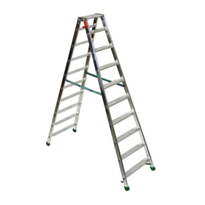Scala doppia alluminio Facal 10 gradini, per lavori fino a 3,2 m