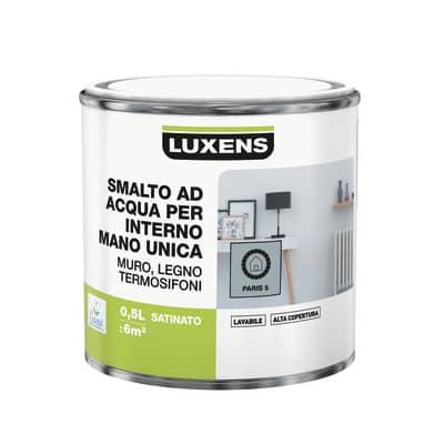 Smalto manounica Luxens all'acqua Grigio Parigi 5 satinato 0.5 L
