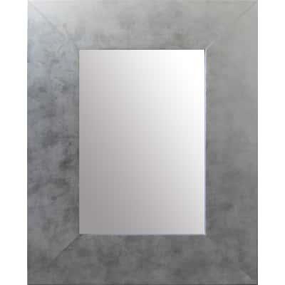 Specchio da parete rettangolare osakan argento 68 x 96 cm - Specchio rettangolare da parete ...