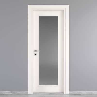 Porta da interno battente Moma Vetro bianco 70 x H 210 cm dx