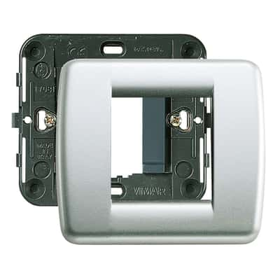 Placca 2 moduli Vimar Idea argento