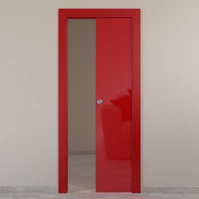 Porta da interno scorrevole Massaua red rosso 60 x H 210 cm reversibile
