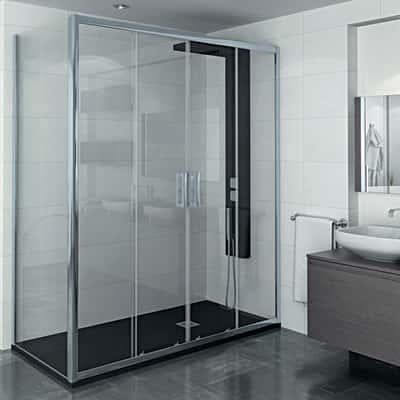 Porta doccia scorrevole manhattan 166 170 h 200 cm for Porta doccia leroy merlin