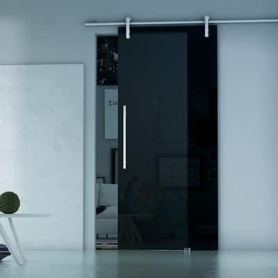 Porta da interno scorrevole Ermes Fumè 86 x H 215 cm sx prezzi e ...