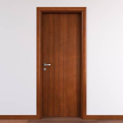Porta da interno battente Mudek Noce nazionale 70 x H 210 cm reversibile