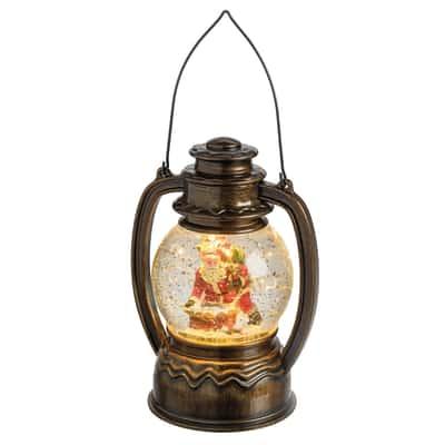 Lanterna sferica 1 minilucciole Led classica gialla H 29 cm