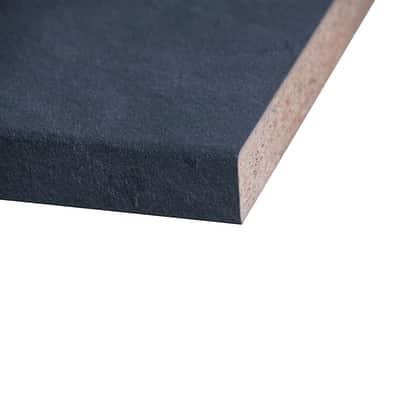 Piano cucina laminato Luserna nero 3.8 x 60 x 304 cm