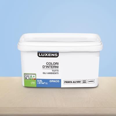 Idropittura lavabile Mano unica Blu Blu 6 - 2,5 L Luxens