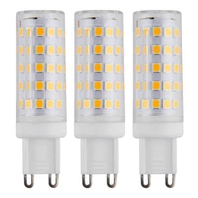 Set di 3  lampadine LED, G9, Capsula, Opaco, Luce calda, 6W=630LM (equiv 50 W), 360°