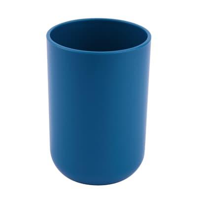 Bicchiere porta spazzolini Easy in plastica blu