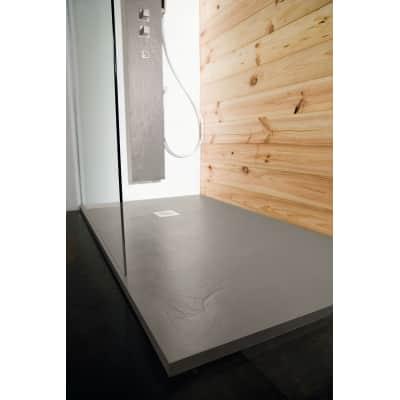 Piatto doccia ultrasottile resina Pizarra 80 x 100 cm cemento