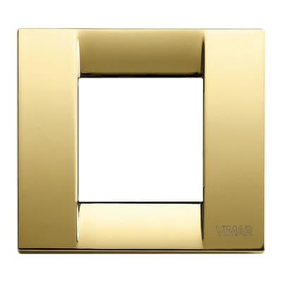 Placca VIMAR Arké Classic 2 moduli oro lucido