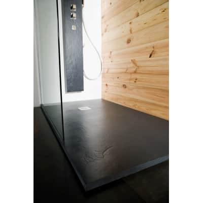 Piatto doccia ultrasottile resina Pizarra 70 x 100 cm antracite