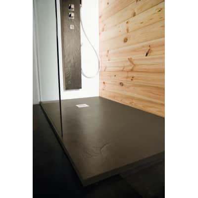 Piatto doccia ultrasottile resina Pizarra 90 x 120 cm marrone