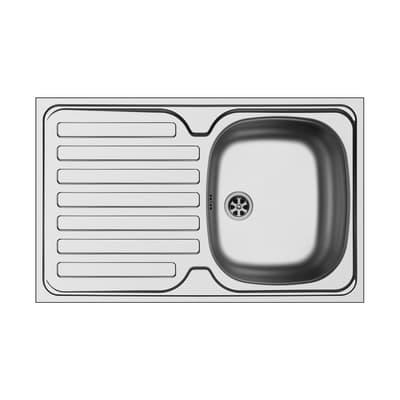 Lavello sovrapposto da appoggio Dioniso 80 x 50 cm 1 vasca con gocciolatoio