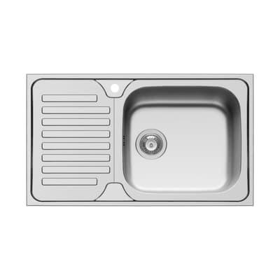 Lavello da incasso Dorian 86 x 50 cm 1 vasca con gocciolatoio