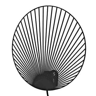 Applique design Palm nero, in metallo,  D. 35 cm INSPIRE