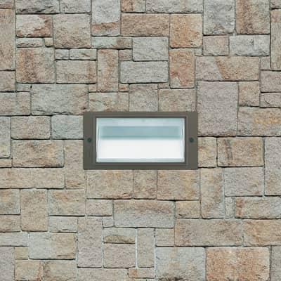 Faretto fisso da incasso rettangolare 1209 LED integrato in plastica, argento, 2,2W 280LM IP54