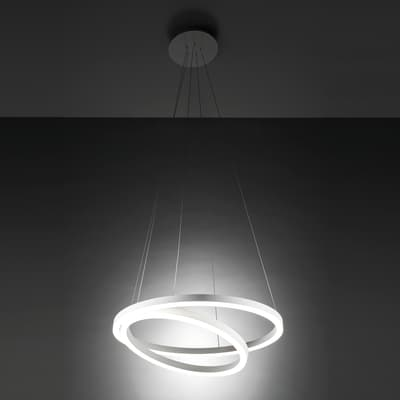 Lampadario Hurricane bianco, in alluminio, diam. 60 cm, LED integrato 60W 3120LM IP20