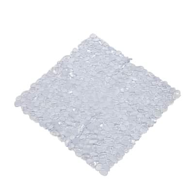 Tappeto antiscivolo Stones in pvc trasparente 54 x 54 cm