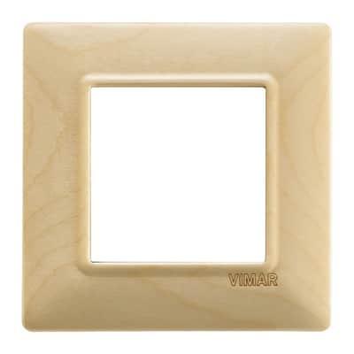 Placca VIMAR Plana 2 moduli acero