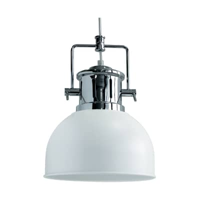 Lampadario Neoma bianco, cromo, in metallo, diam. 23 cm, E27 MAX40W IP20 SEYNAVE