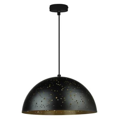Lampadario Ydro oro, nero, in metallo, diam. 40 cm, E27 MAX60W IP20 INSPIRE