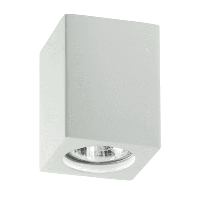 Plafoniera design Space bianco, in gesso,  D. 7 cm 7x7 cm, INTEC