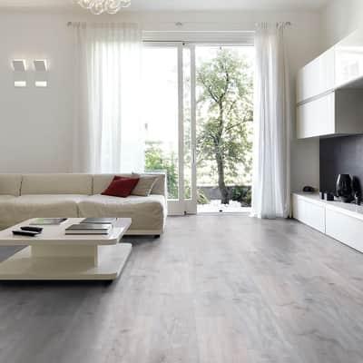 Pavimento SPC flottante clic+ Sp 4 mm grigio / argento