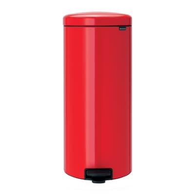 Pattumiera New Icon a pedale rosso 30 L