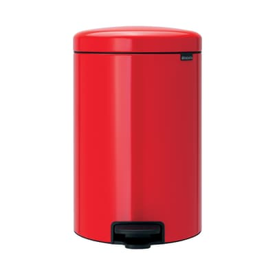 Pattumiera New Icon a pedale rosso 20 L