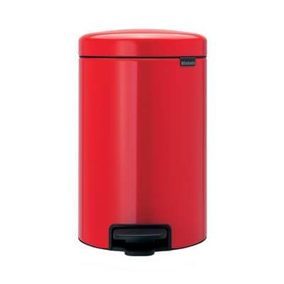 Pattumiera New Icon a pedale rosso 12 L