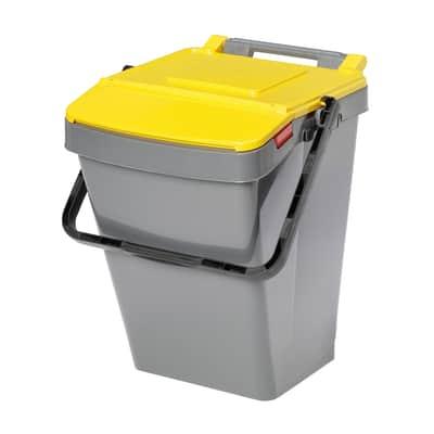 Pattumiera Easy Twin manuale giallo 30 L