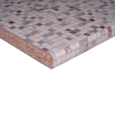 Piano cucina in laminato crema Bisanzio L 304 x P 60 cm, spessore 3.8 cm
