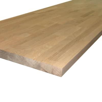 Piano di lavoro in legno rovere L 245 x H 3.8 cm