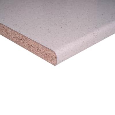 Piano di lavoro bianco Glitter L 304 x P 60 cm, spessore 3.8 cm