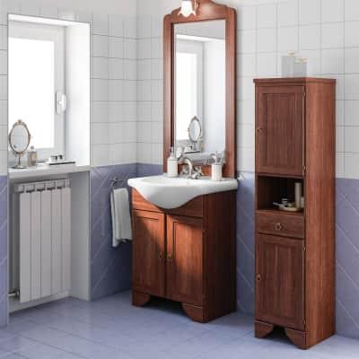 Mobile bagno Laura noce L 65 cm