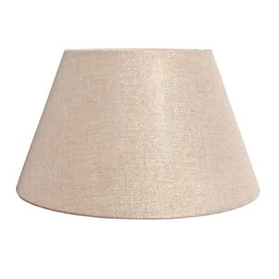 Paralume per lampada da comodino personalizzabile  Ø 20 cm bianco avorio in teletta