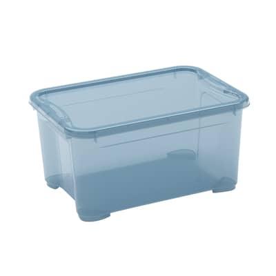 Contenitore T-box L 38 x H 19 x P 26.5 cm azzurro