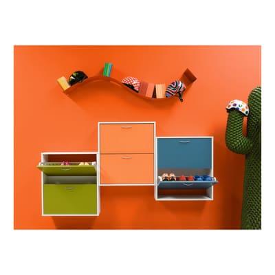Scocca per scarpiera componibile Scocca puzzle L 67 x H 77 x P 17 cm bianco