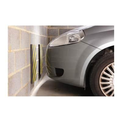 Protezione per garage in polietilene L 50 x H 25 cm nero e giallo