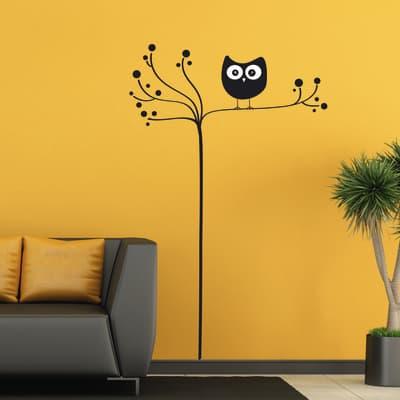Sticker Owl on tree 6x70 cm