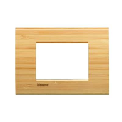 Placca BTICINO Living light 3 moduli bambù