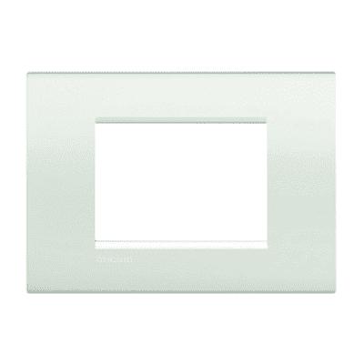 Placca BTICINO Living light 3 moduli bianco