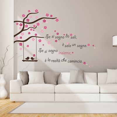 Sticker Sognare insieme 14x73 cm
