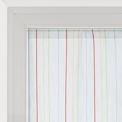 Tendina vetro Irene bianco tunnel 45x240 cm