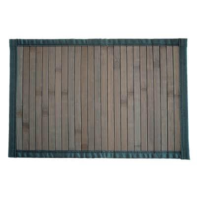 Tappeto cucina antiscivolo Classic in bambù, grigio, 50x280 cm